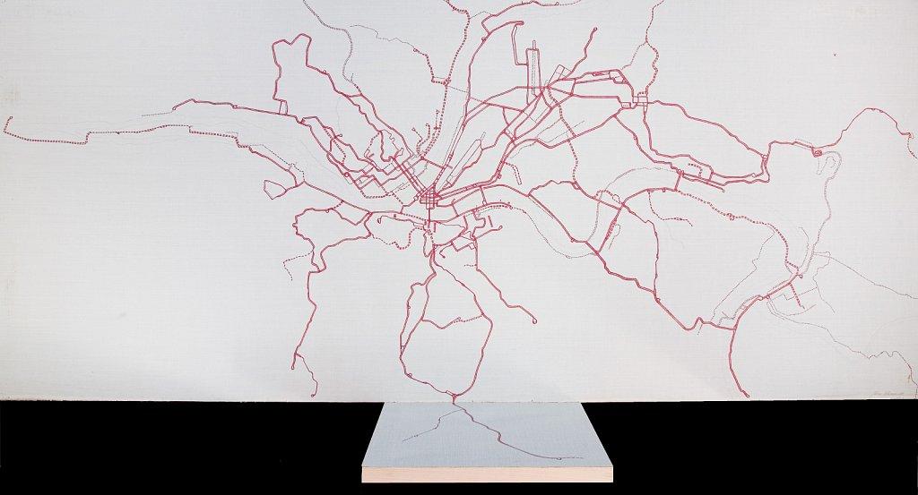 Pittsburgh PA, 2009, 69 x 156 cm, akryll på duk