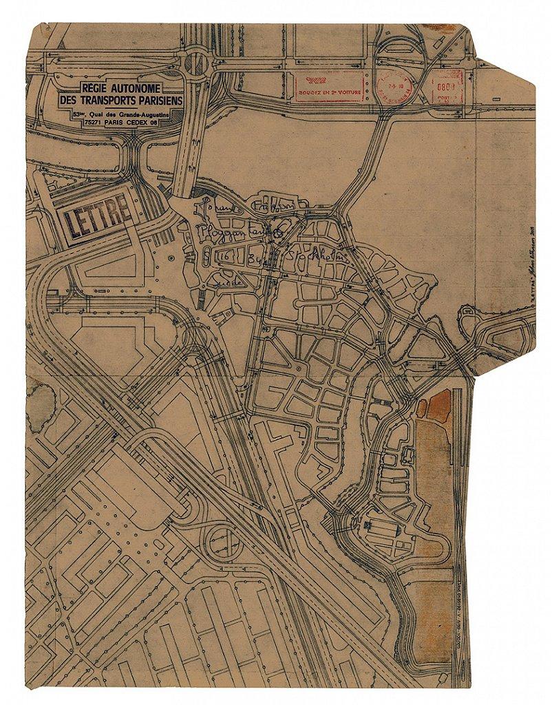 Lettre, 2011, 49 x 37 cm, blyerts