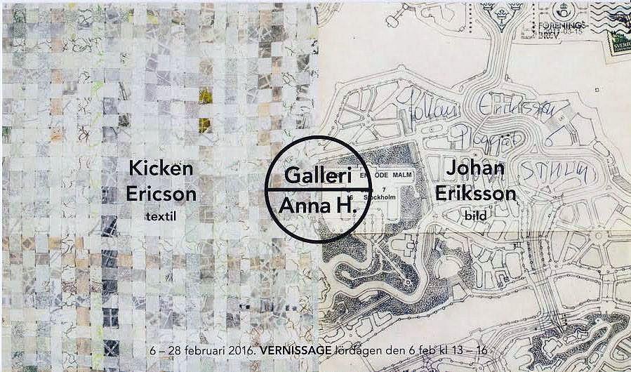 Galleri Anna H, Göteborg 2016 Utställning med Kicken Ericson
